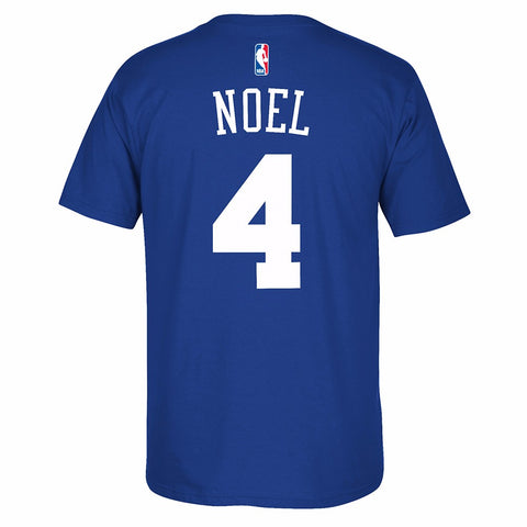 Nerlens Noel Philadelpia 76ers NBA Adidas Men Blue Player Name & Number T-Shirt