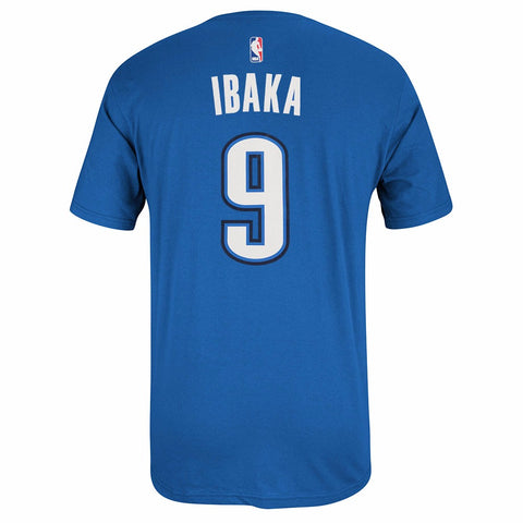 Serge Ibaka Oklahoma City Thunder NBA Adidas Blue Name & Number Player T-Shirt