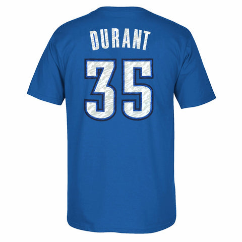 Kevin Durant Oklahoma City Thunder NBA Adidas Blue Name & Number Player T-Shirt