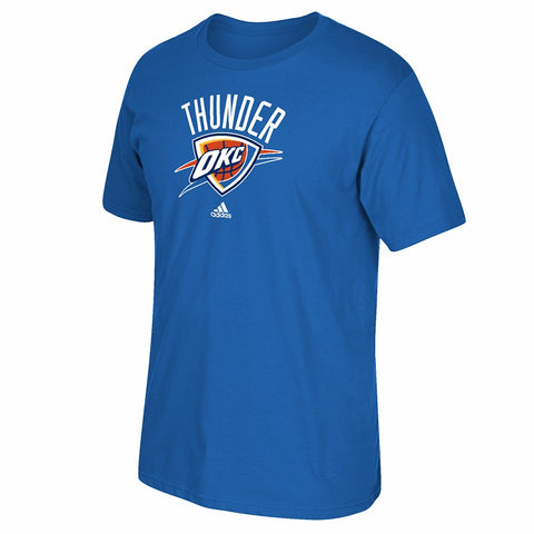 "Oklahoma City Thunder NBA Adidas Blue Team ""Primary Logo"" Graphic T-Shirt"