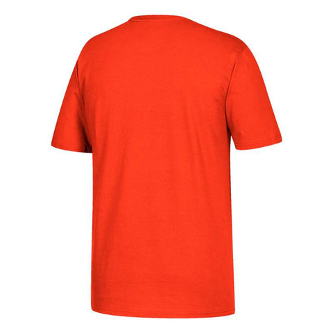 "Miami Hurricanes NCAA Adidas Primary ""Chain"" Graphic Men's Orange T-Shirt"