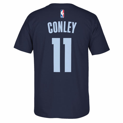 Mike Conley Memphis Grizzlies NBA Adidas Navy Blue Name & Number Player T-Shirt