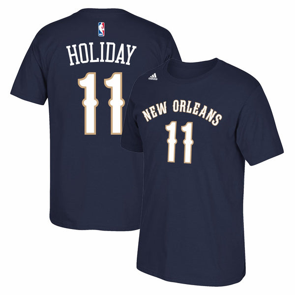 Jrue Holiday New Orleans Pelicans NBA Adidas Men Navy Name & Number T-Shirt