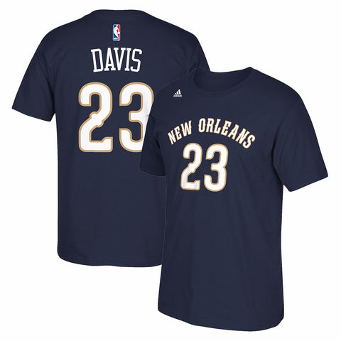 Anthony Davis New Orleans Pelicans NBA Adidas Men Navy Name & Number T-Shirt