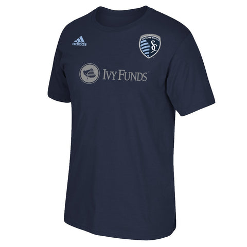 Dom Dwyer MLS Sporting Kansas City Adidas Men's N&N Jersey Navy Blue T-Shirt