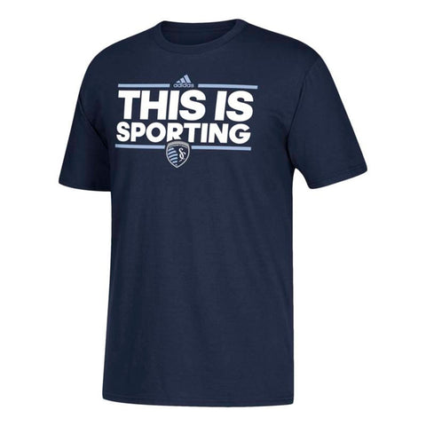 Sporting Kansas City MLS Adidas Dassler Team Graphic Men's Navy Blue T-Shirt