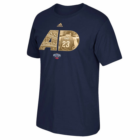 Anthony Davis NBA New Orleans Pelicans Men's Navy Blue Player T-Shirt