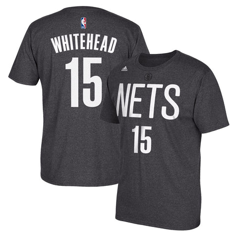 Isaiah Whitehead NBA Brooklyn Nets Men's Grey Faux Stitch Name & Number T-Shirt