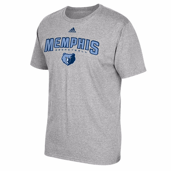 "Memphis Grizzlies NBA Adidas Grey ""Represent"" Team Logo Graphic T-Shirt"