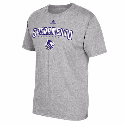 "Sacramento Kings NBA Adidas Grey ""Represent"" Team Logo Graphic T-Shirt"