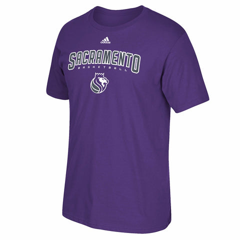 "Sacramento Kings NBA Adidas Purple ""Represent"" Team Logo Graphic T-Shirt"