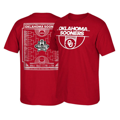 Oklahoma Sooners NCAA Adidas 2016 March Madness Men's Red T-Shirt