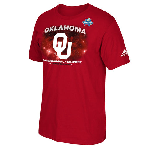 "Oklahoma Sooners NCAA 2016 March Madness ""Road To Houston"" Men's Red T-Shirt"