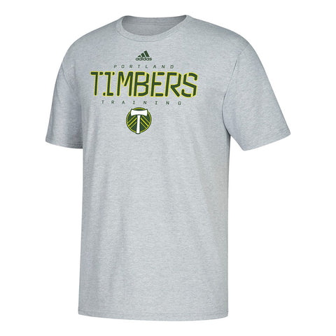 Portland Timbers MLS Adidas Team Training Graphic Men's Grey T-Shirt