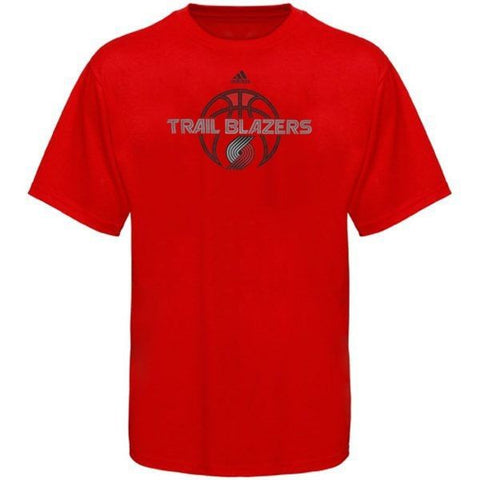 Portland Trail Blazers NBA Adidas Men's Red Basketball Logo T-Shirt