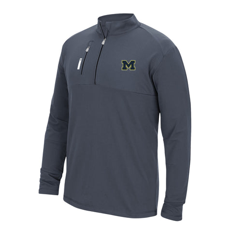 Michigan Wolverines NCAA Adidas Men's TMAG Adi Golf Grey Mixed Media Fleece