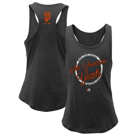 "San Francisco Giants Majestic MLB Girls Youth ""Shine Bright"" Tri-Blend Tank"