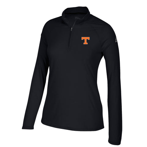 Tennessee Volunteers NCAA Adidas Women's Perf. Black Ultimate 1/4 Zip Knit