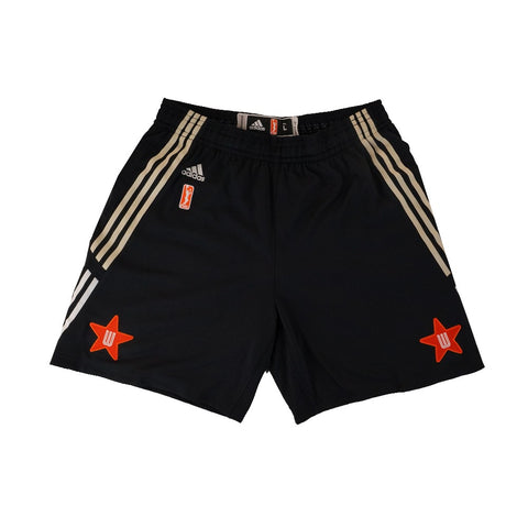 2015 WNBA All Star Adidas Authentic On-Court Team Issued Black West Shorts Women
