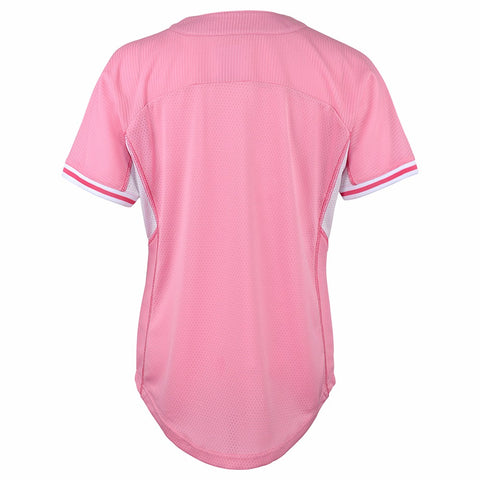 Tampa Bay Rays MLB Majestic Girl's Pink Batting Practice Fashion Jersey
