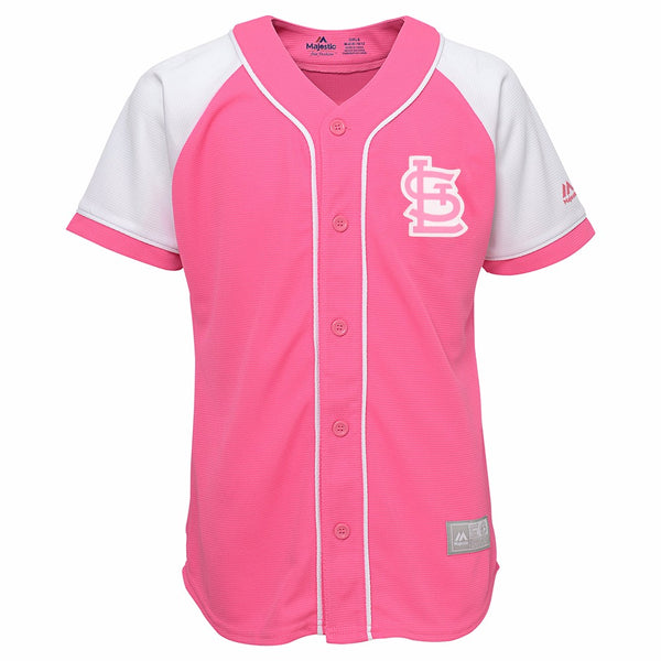 St Louis Cardinals MLB Majestic Girl's Pink Fashion Replica Jersey