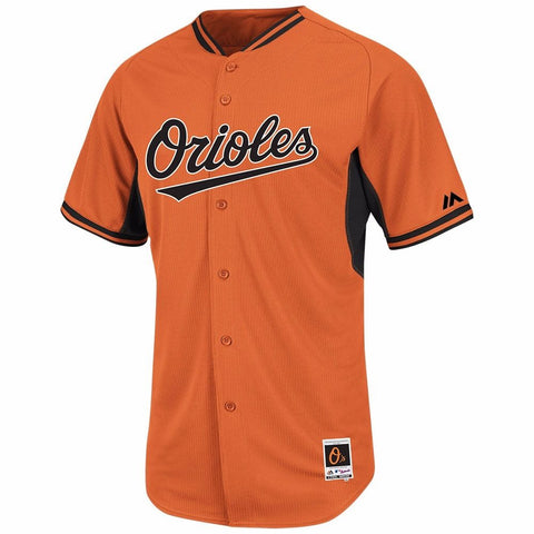 Manny Machado Baltimore Orioles MLB Majestic Orange Authentic On-field BP Jersey