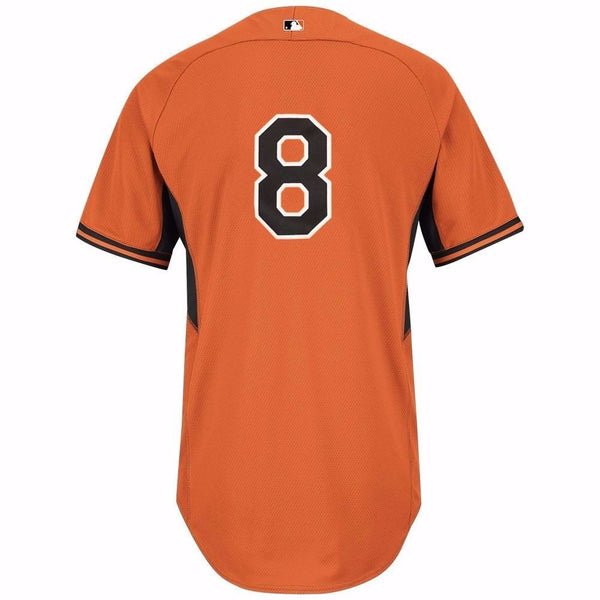 Cal Ripken Jr Baltimore Orioles MLB Majestic Orange Authentic On-Field BP Jersey
