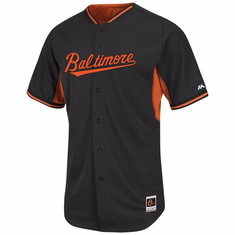 Cal Ripken Jr. Baltimore Orioles MLB Majestic Black Authentic On-field BP Jersey