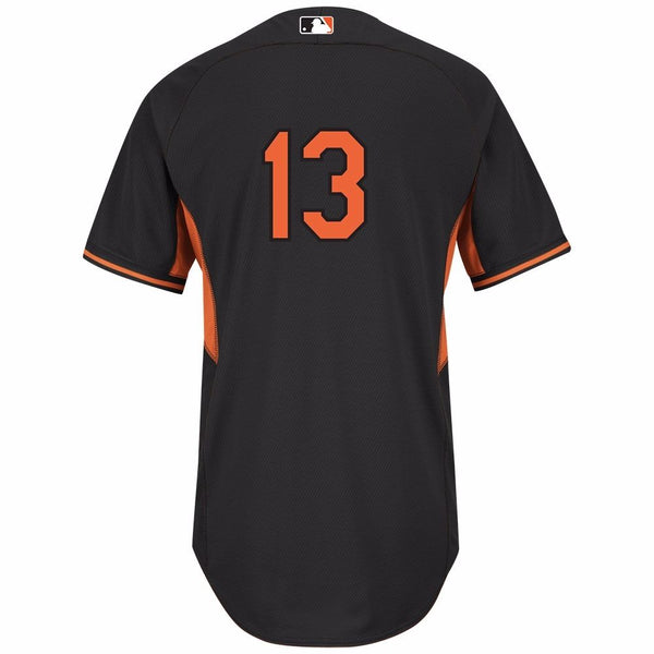 Manny Machado Baltimore Orioles MLB Majestic Black Authentic On-field BP Jersey