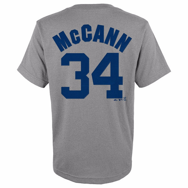 Brian McCann New York Yankees MLB Majestic YOUTH Grey Player Jersey T-Shirt