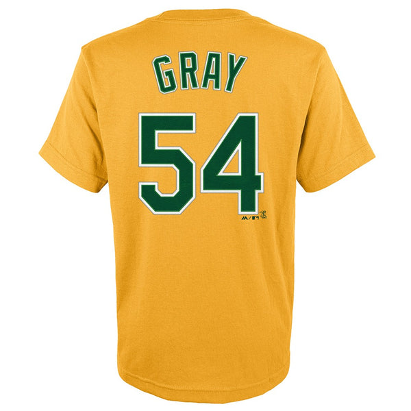 Sonny Gray MLB Majestic Oakland Athletics Player Alt Jersey T-Shirt Youth (S-XL)