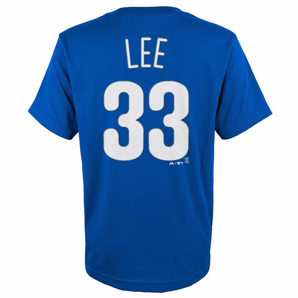 Cliff Lee Philadelphia Phillies MLB Majestic YOUTH Blue Player Jersey T-Shirt