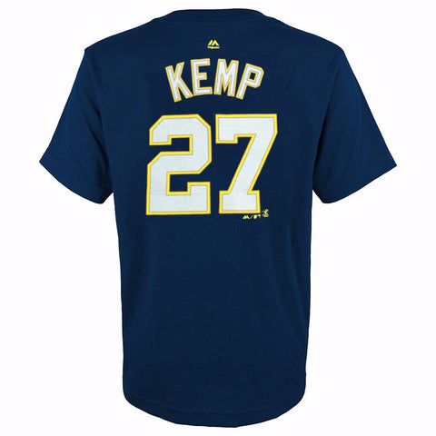 Matt Kemp San Diego Padres MLB Majestic YOUTH Yellow Player Jersey T-Shirt