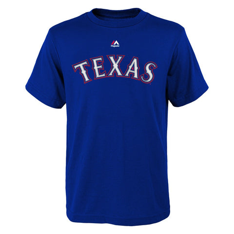 Yu Darvish MLB Majestic Texas Rangers Player Jersey Blue T-Shirt Youth (S-XL)