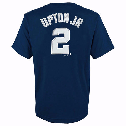 Melvin Upton Jr San Diego Padres MLB Majestic YOUTH Navy Player Jersey T-Shirt
