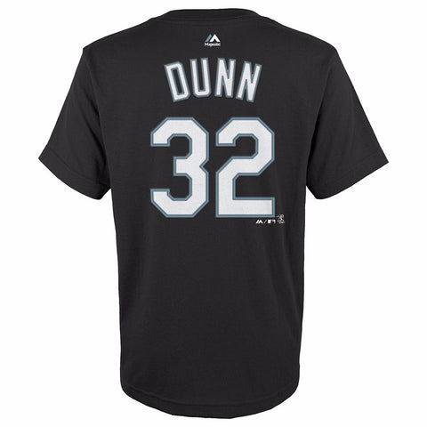Adam Dunn Chicago White Sox MLB Majestic YOUTH Black Player Jersey T-Shirt