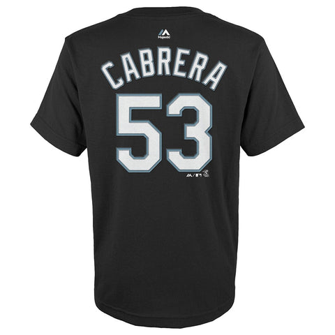 Miguel Cabrera Chicago White Sox MLB Majestic Black Name & Number T-Shirt Youth