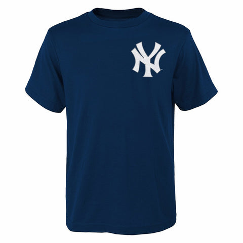 Brian McCann New York Yankees MLB Majestic Navy Blue Name & Number T-Shirt Youth