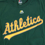 Josh Reddick Oakland Athletics MLB Majestic YOUTH Green Player Jersey T-Shirt