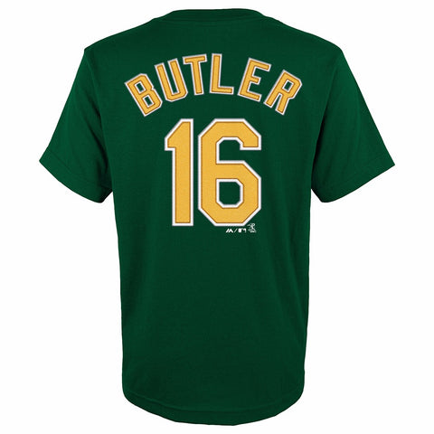 Billy Butler Oakland Athletics MLB Majestic YOUTH Green Player Jersey T-Shirt