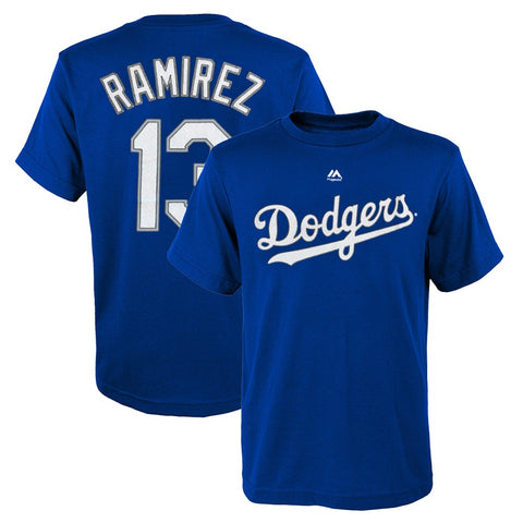 Hanley Ramirez Los Angeles Dodgers MLB Majestic YOUTH Blue Jersey T-Shirt