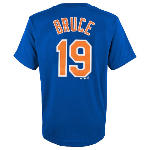 Jay Bruce MLB Majestic New York Mets Blue Player Jersey T-Shirt Youth (S-XL)