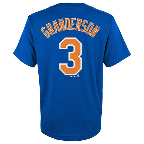 Curtis Granderson New York Mets MLB Majestic YOUTH Blue Jersey T-Shirt
