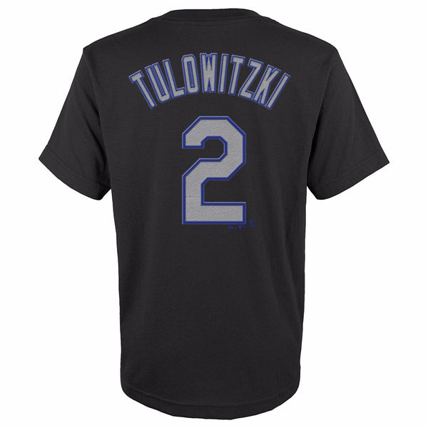 Troy Tulowitzki Colorado Rockies MLB Majestic YOUTH Black Player Jersey T-Shirt