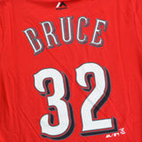 Jay Bruce Cincinnati Reds MLB Majestic YOUTH Red Player Jersey T-Shirt