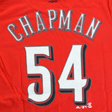 Aroldis Chapman Cincinnati Reds MLB Majestic YOUTH Red Player Jersey T-Shirt