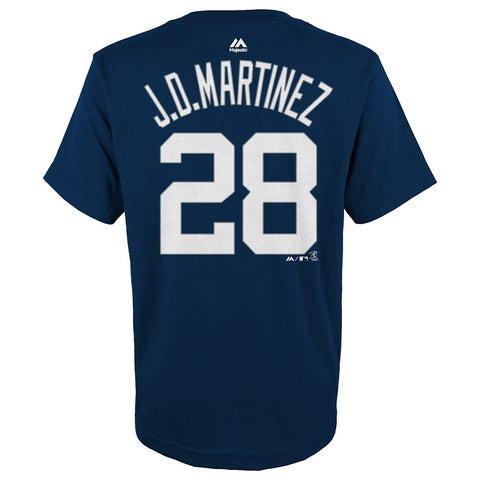 J.D. Martinez Detroit Tigers MLB Majestic Navy Blue Name & Number T-Shirt Youth
