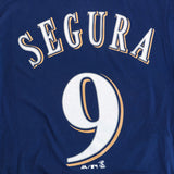 Jean Segura Milwaukee Brewers MLB Majestic YOUTH Navy Blue Player Jersey T-Shirt