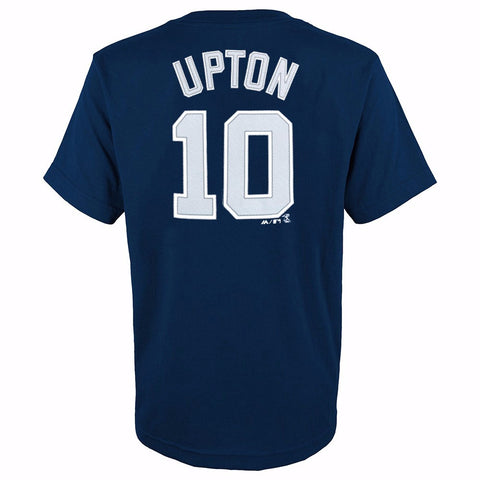 Justin Upton San Diego Padres MLB Majestic YOUTH Navy Blue Player Jersey T-Shirt