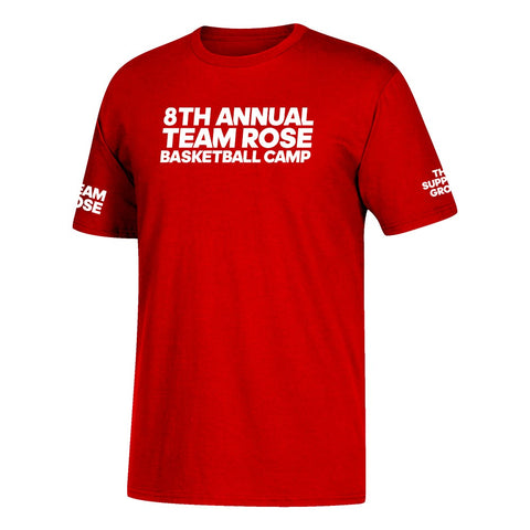 Adidas Youth Red 8Th Annual Team Rose Basketball Camp T-Shirt